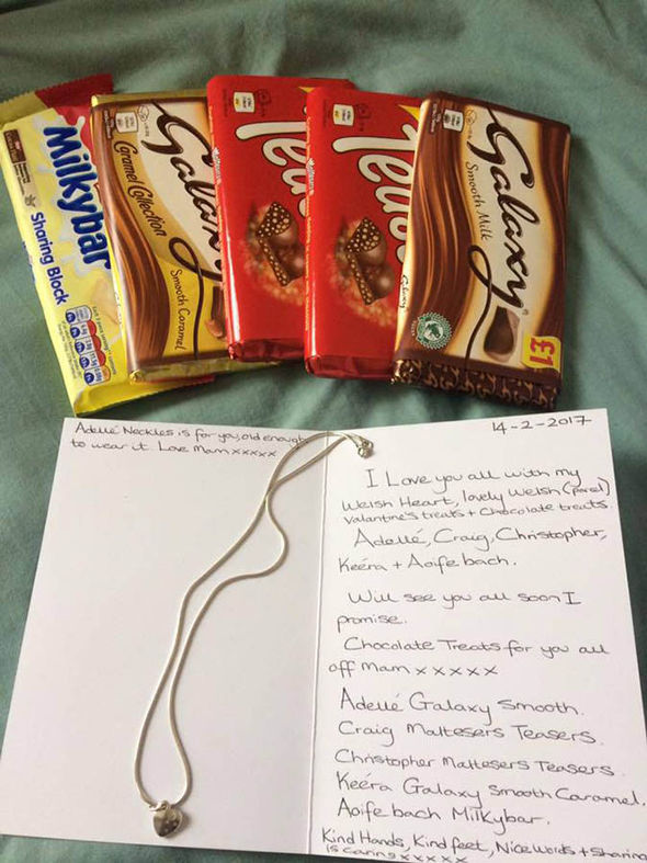 Chocolate and card
