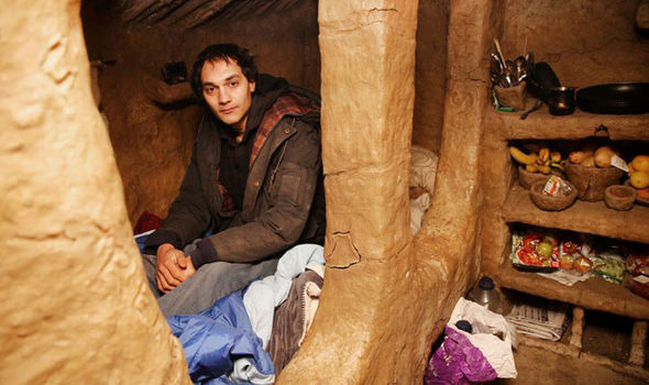 Daniel Pike in his home