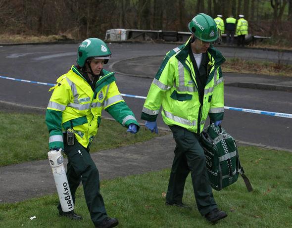 Paramedics at the scene