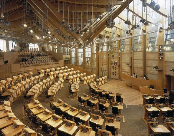 Inside Holyrood building