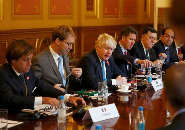 Tobias Ellwood and Boris Johnson