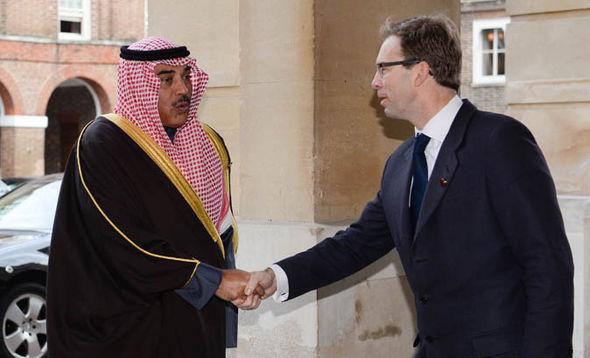 Tobias Ellwood meeting Kuwaiti Foreign Minister Sheikh Sabah Khaled al-Sabah