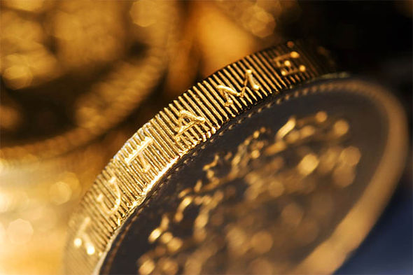 Close-up image of a pound coin