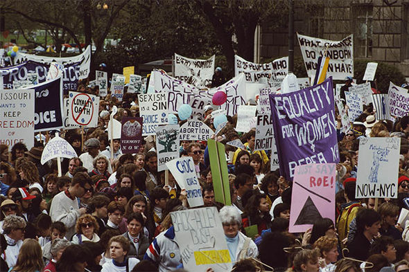Women's rights march in 1989