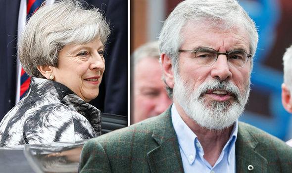 Gerry Adams and Theresa May