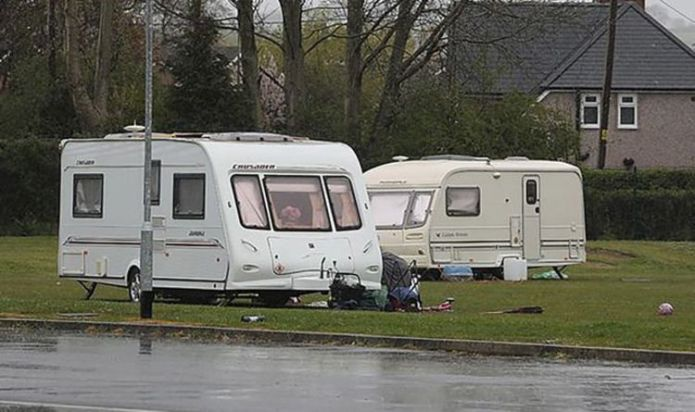 Travellers force two schools to close after camp set up on playing field