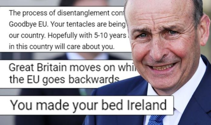 'You made your bed, Ireland!' Britons mock Dublin as historic Australia deal 'hammers