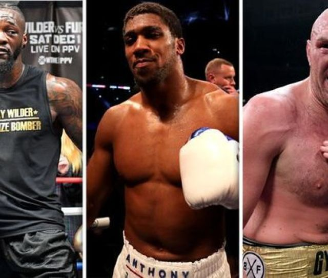 Aj Wilder Fury Anthony Joshua Will Fight Deontay Wilder And