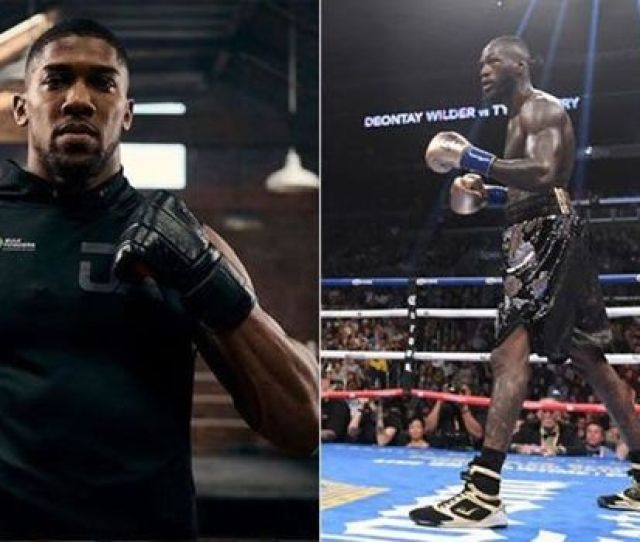 Anthony Joshua L And Deontay Wilder R Image Getty