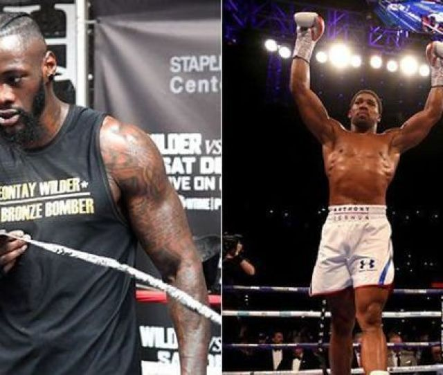 Anthony Joshua Right And Deontay Wilder Left Image Getty