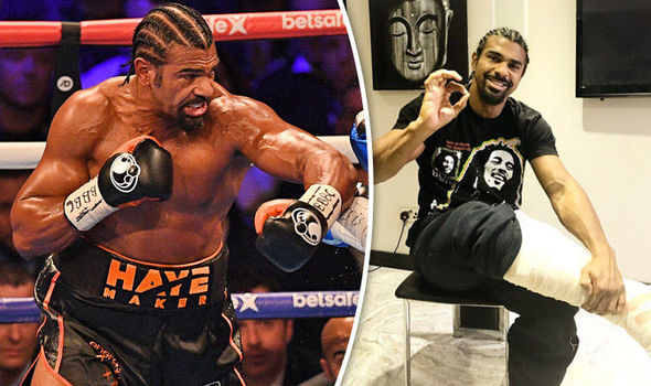 Boxer David Haye and his Achilles injury