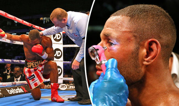 Kell Brook suffered an eye injury with which he persisted for four rounds
