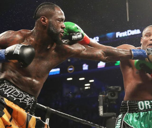 Deontay Wilder During His Win Over Luis Ortiz Getty Deontay Wilder Has Been Offered  Million To Fight Anthony Joshua