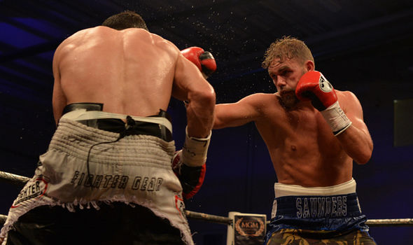 Billy Joe Saunders in action