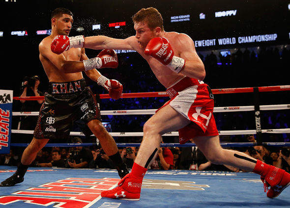 Boxer Amir Khan and Canelo Alvarez