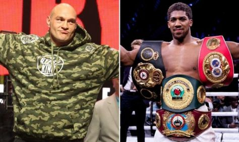 Tyson Fury makes Anthony Joshua promise as he challenges UFC champion Francis Ngannou