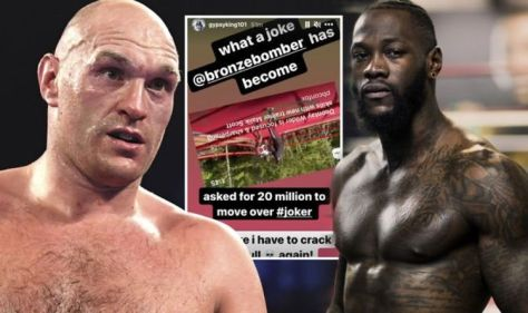 Tyson Fury attacks Deontay Wilder for £20m request to 'move over' for Anthony Joshua fight