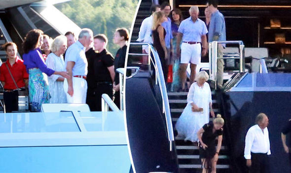 Prince Charles and Camilla Parker Bowles on yacht