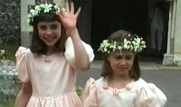 Duchess Kate looked pretty alongside sister Pippa in this 1991 video