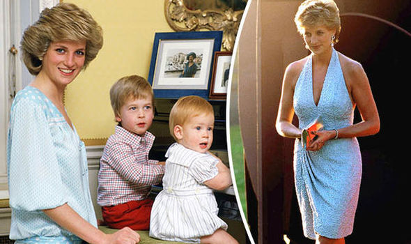 Princess Diana with William and Harry (left)