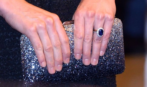 The sapphire and diamond engagement ring owned by Diana, Princess of Wales