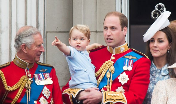 Charles with William, his eldest son, and Prince George, his eldest grandson