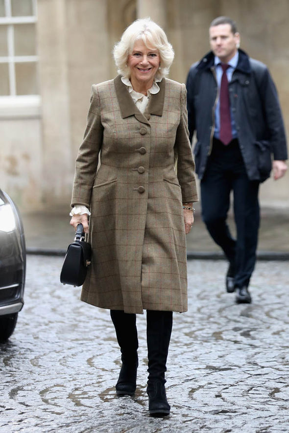 Duchess of Cornwall in tweed coat