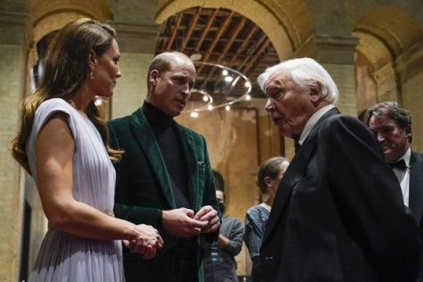 Duke and Duchess of Cambridge with Sir David Attenborough