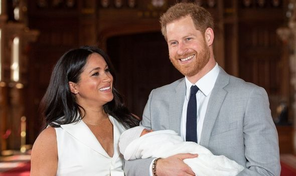 Meghan Markle and Prince Harry show off Archie
