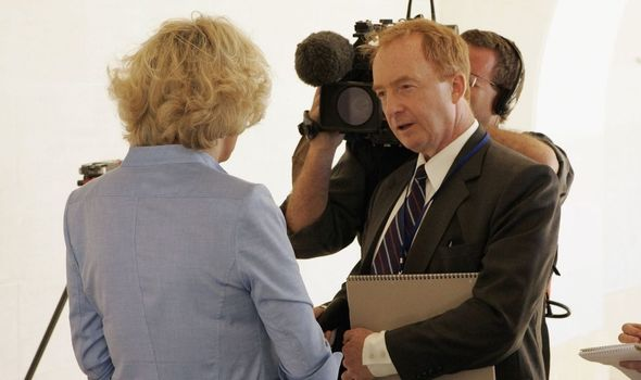 Nicholas Witchell interviewing Camilla, Duchess of Cornwall