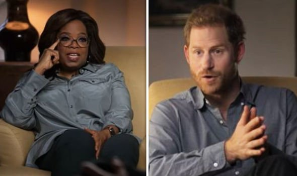 Oprah and Harry for their new Apple TV  series on mental health