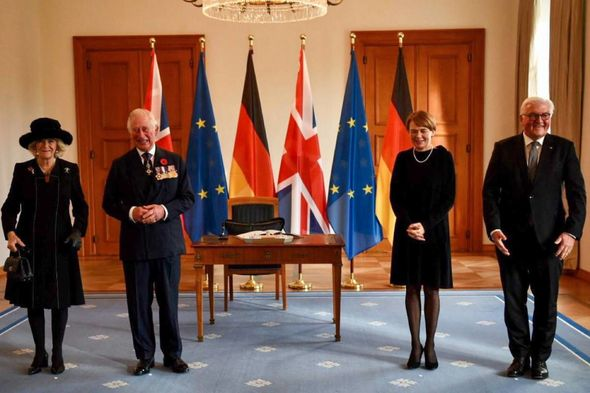 Prince Charles arrived in Berlin with Camilla to remember those who have died in war
