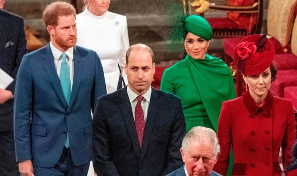 Prince WIlliam and Prince Harry last year on the Duke of Sussex's last engagement