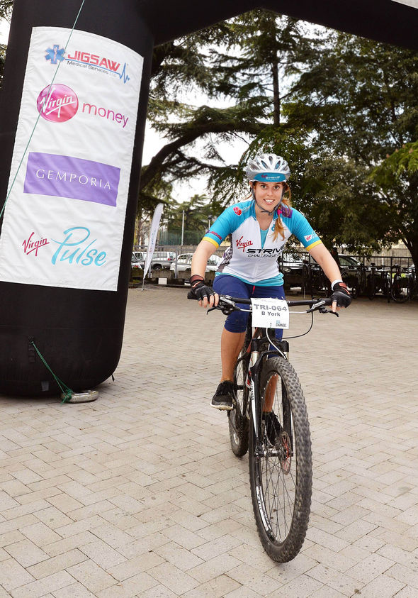 Princess Beatrice on a bike