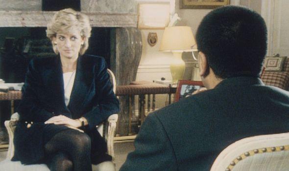 Princess Diana being interviewed by Martin Bashir