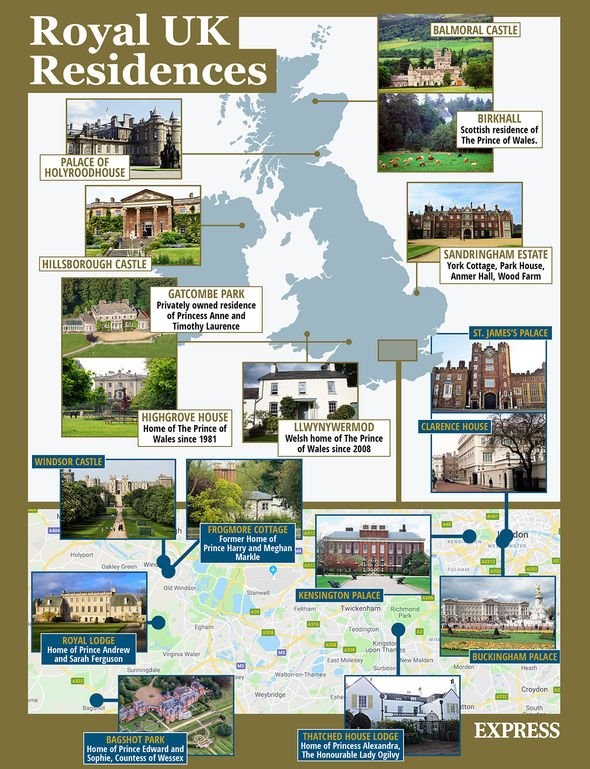 Royal residences: The Royals own various residences around the country