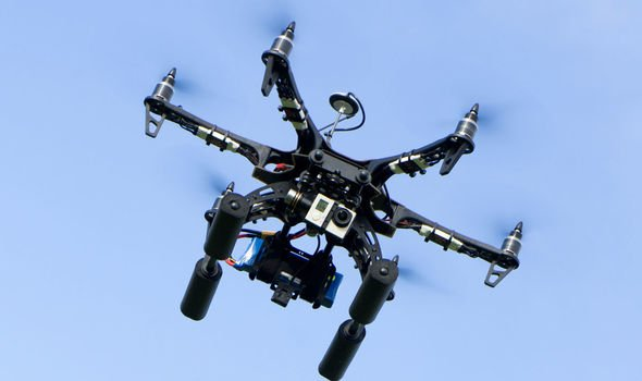 The drone was flying four times higher than legally allowed