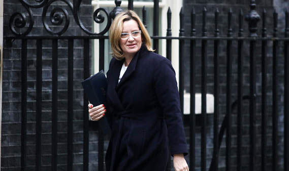 Amber Rudd has been invited to meet the Queen three times since December
