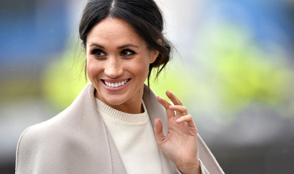 Meghan Markle wore a cream jumper by Victoria Beckham during a visit to Northern Ireland
