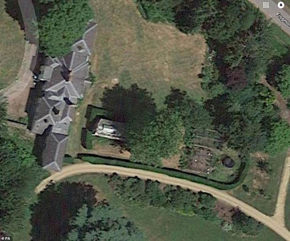 A birds-eye view of Frogmore Cottage, based on the vast Windsor Estate