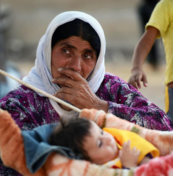 Yazidis have been forced to flee their homes because of ISIS
