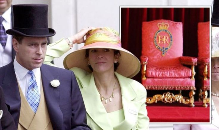 Ghislaine Maxwell 'not only friend Prince Andrew let sit on Queen's throne'
