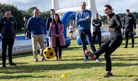 Kate shows William up as Duchess' 'superior football technique' delights fans