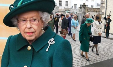 Queen addresses 'trying period' as she opens Holyrood without Philip in historic first