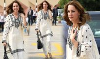 Kate Middleton cuts an off-the-cuff look in outsized kaftan on last day of Pakistan tour 1192385 1