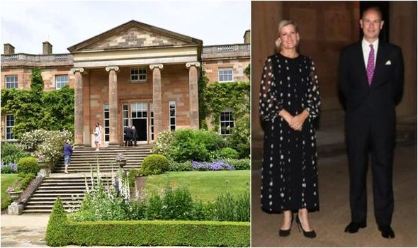 Sophie Wessex looks 'glamorous' in £2,140 dress at Queen's official residence in Ireland