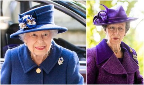 Queen looks 'majestic in blue' attending Westminster Abbey service with Princess Anne