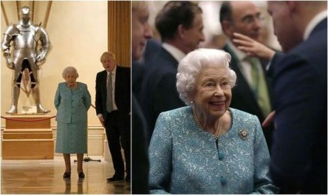 Queen wears heart-shaped brooch at Windsor Castle to meet 'billionaire business leaders'