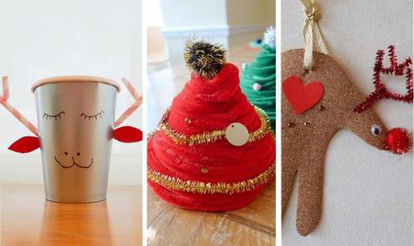 Christmas Ornament Chenille Tree And Reindeer Cup Easy