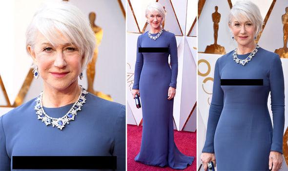 Oscars 2018 Helen Mirren Shows Nipples In Awkward